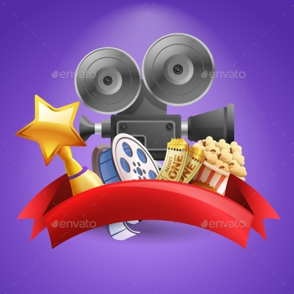 Cinema Background Illustration - Miscellaneous Vectors