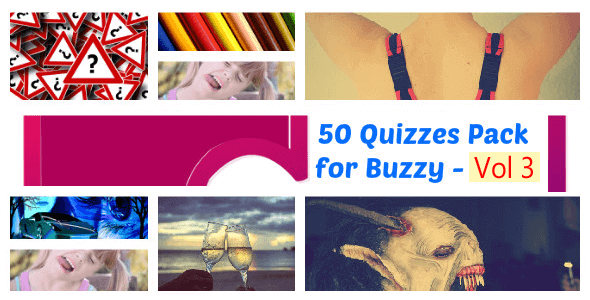 50 Quizzes Pack for Buzzy - Vol 3 - CodeCanyon Item for Sale