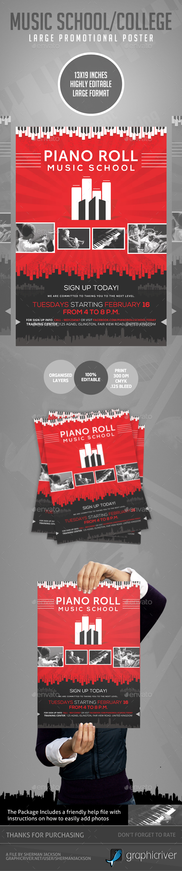 Music College & School Creative Promotional Poster - Miscellaneous Events