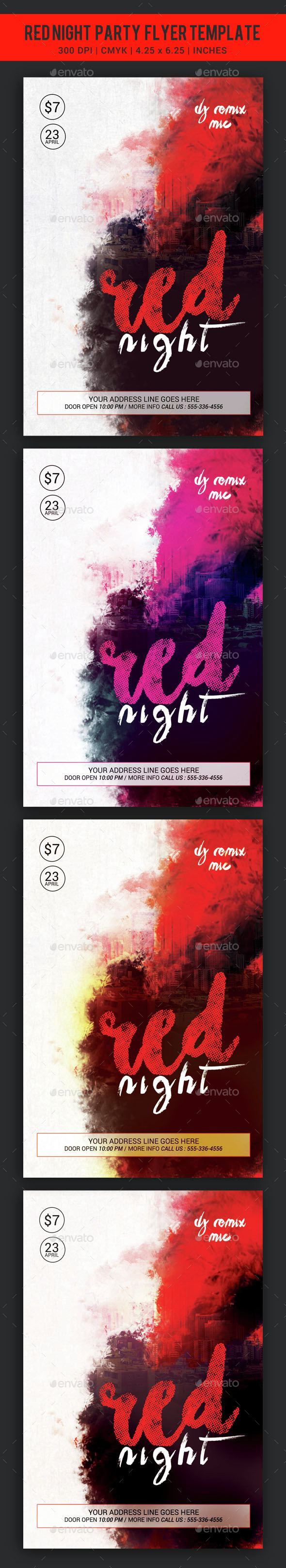 Red Night Flyer - Clubs & Parties Events