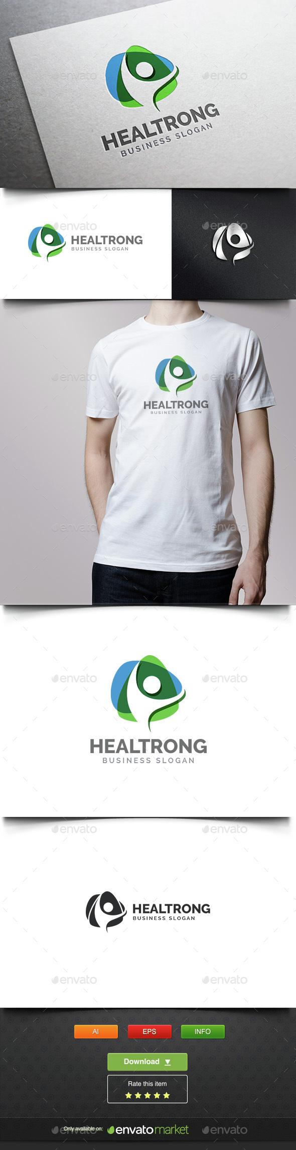 Modern Health People - Humans Logo Templates