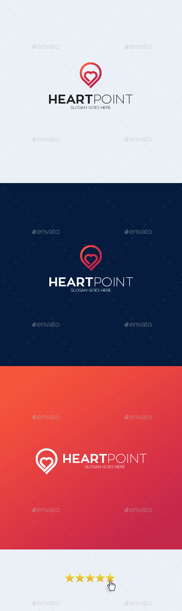 Heart Point Logo Template - Symbols Logo Templates
