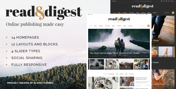 Read and Digest - Theme for Magazines, Newspapers and Blogs - News / Editorial Blog / Magazine