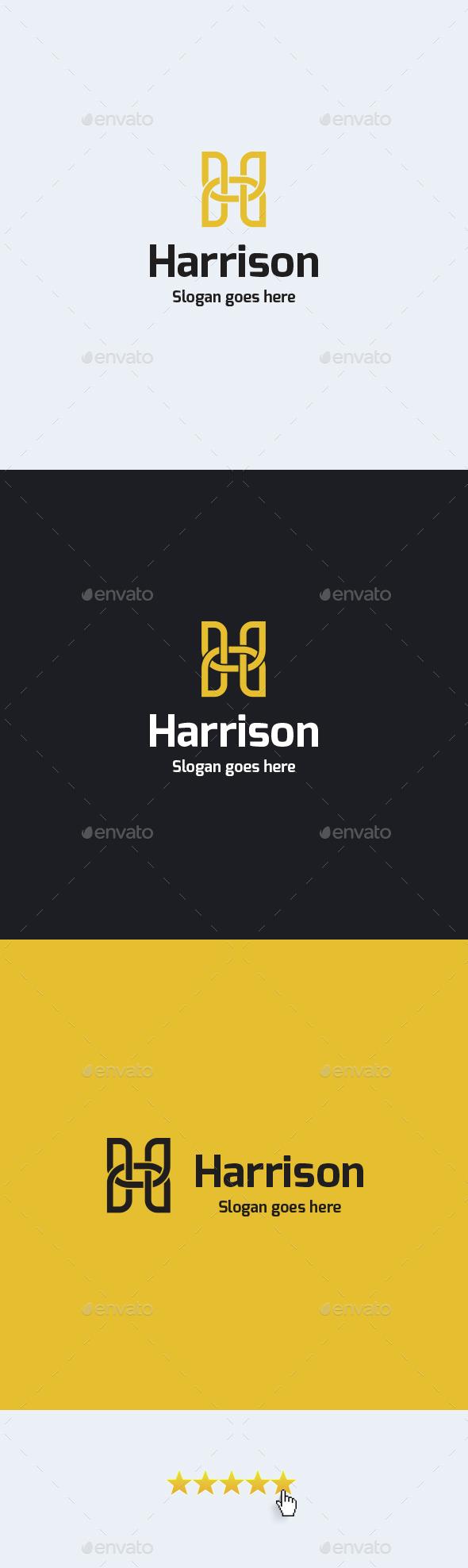 Harrison • Letter H Logo Template - Letters Logo Templates