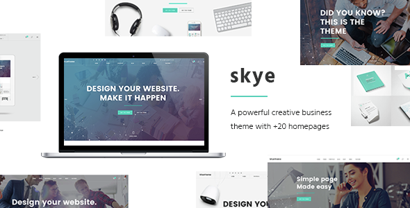 Skye - A Contemporary Theme for Creative Business - Corporate WordPress