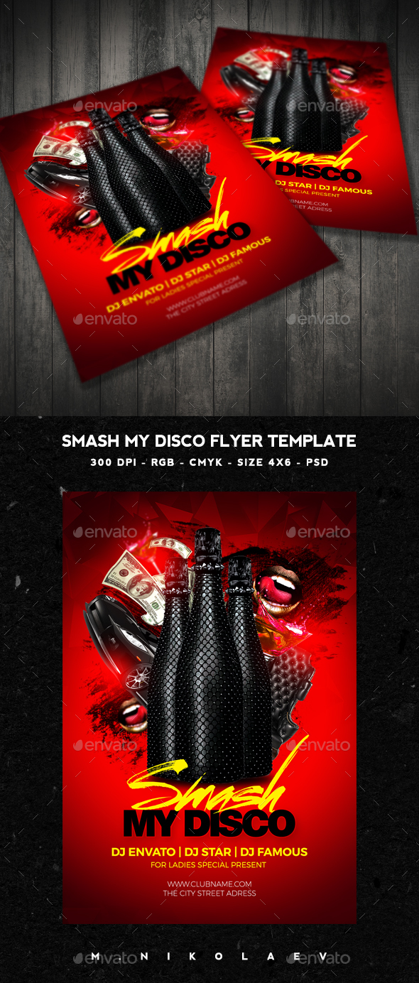 Smash My Disco Flyer V2 - Clubs & Parties Events