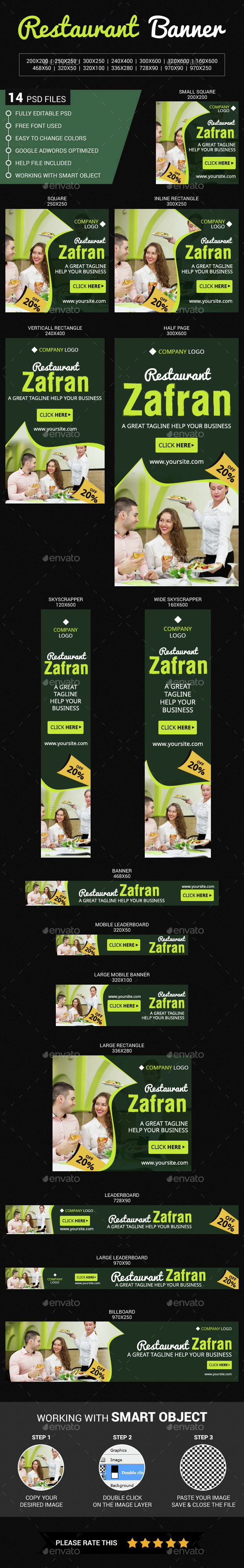 Food & Restaurant - Banners & Ads Web Elements