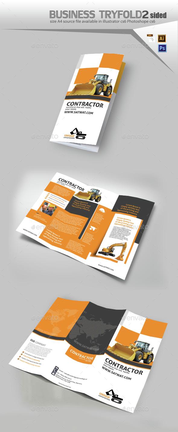 Construction Tri-fold Brochure - Brochures Print Templates