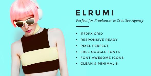 Elrumi – Creative HTML5 Bootstrap Template