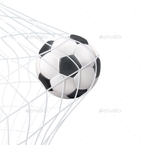 Soccer Ball in the Net - Sports/Activity Conceptual