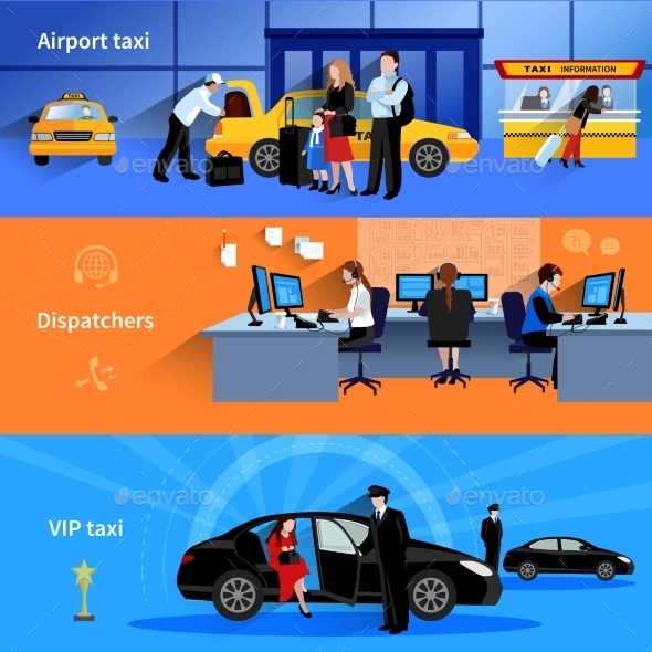 Taxi Horizontal Banners - Concepts Business