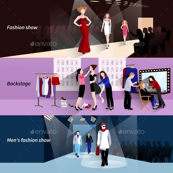 Fashion Model Catwalk Banner Set - Industries Business