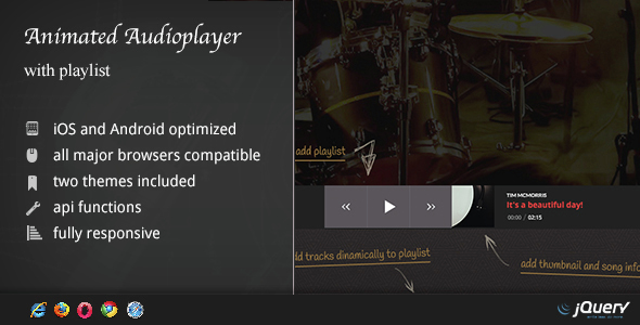Animated Audio Player with Playlist - CodeCanyon Item for Sale