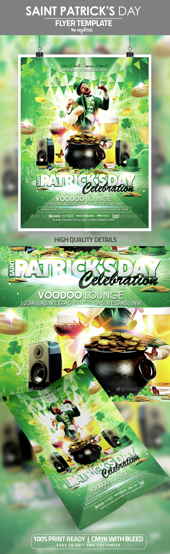 Saint Patrick's Day Flyer / Poster Template - Events Flyers