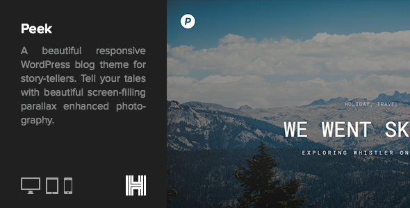 Peek – A Smooth Responsive WordPress Blog Theme