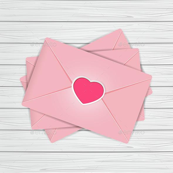 Valentines on Wooden Background - Valentines Seasons/Holidays