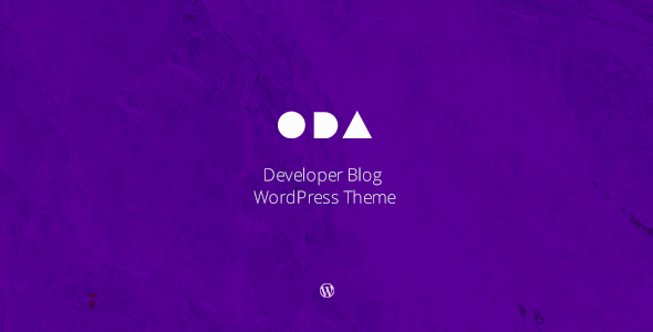 ODA — Developer's Blog WordPress Theme - Personal Blog / Magazine