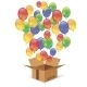 Cardbox And Colorful Balloons - GraphicRiver Item for Sale