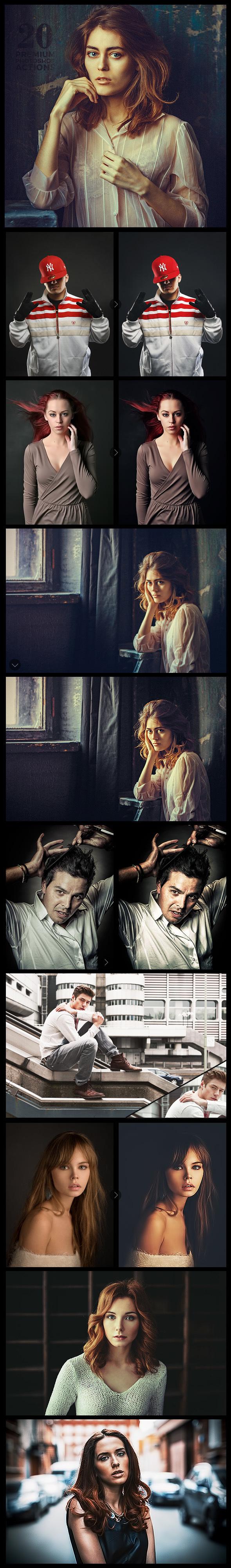 20 Premium Photoshop Actions Set - Photo Effects Actions