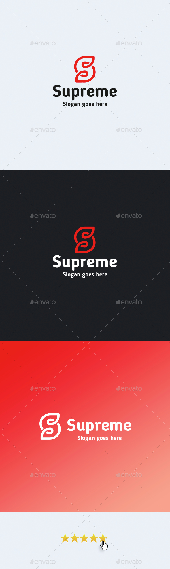Supreme • Letter S Logo Template - Letters Logo Templates