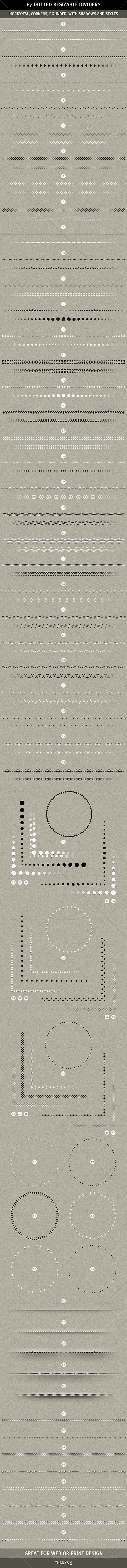 67 Resizable Dotted Dividers - Miscellaneous Web Elements
