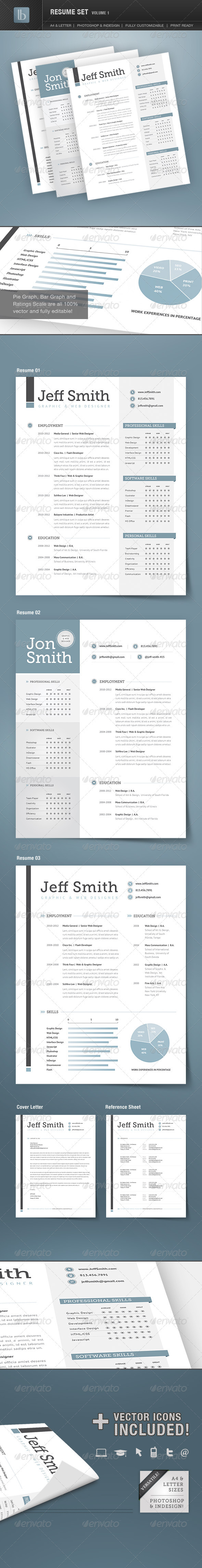 Resume Set | Volume 1 - Resumes Stationery