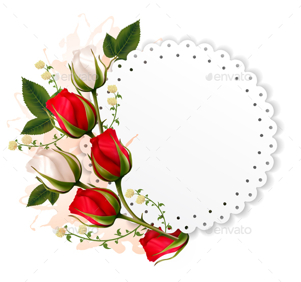 Valentines Day Background With A Bouquet Of Flowers - Valentines Seasons/Holidays