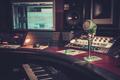 Close-up of boutique recording studio control desk. - PhotoDune Item for Sale