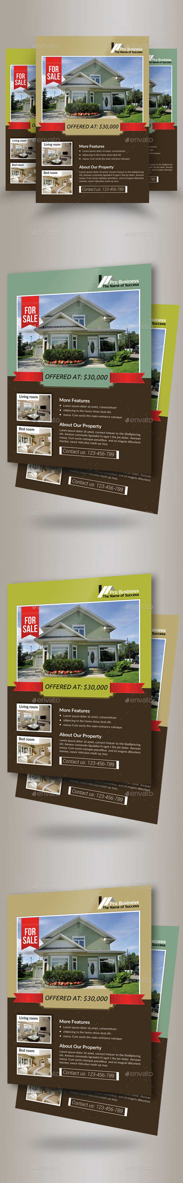 Estate Agency PSD Flyer Template - Corporate Flyers