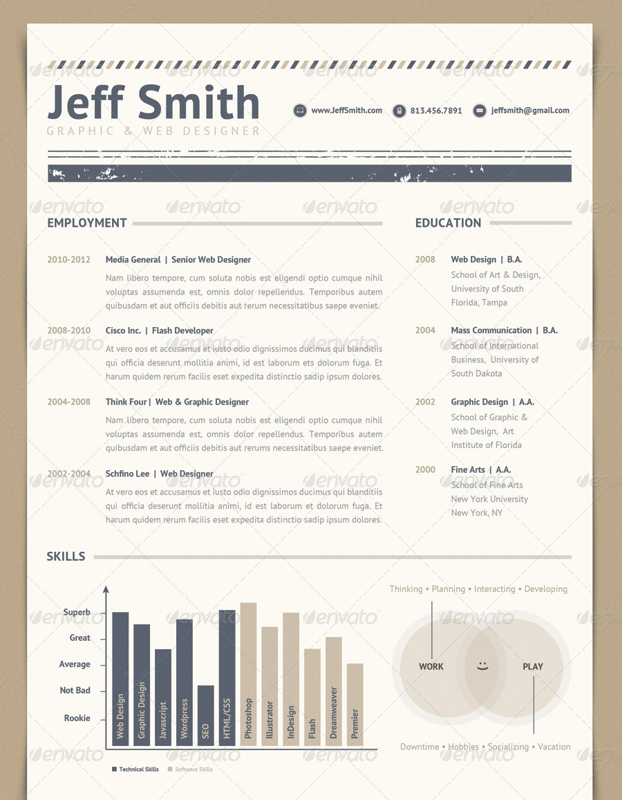resume set volume 2 by lbeck graphicriver