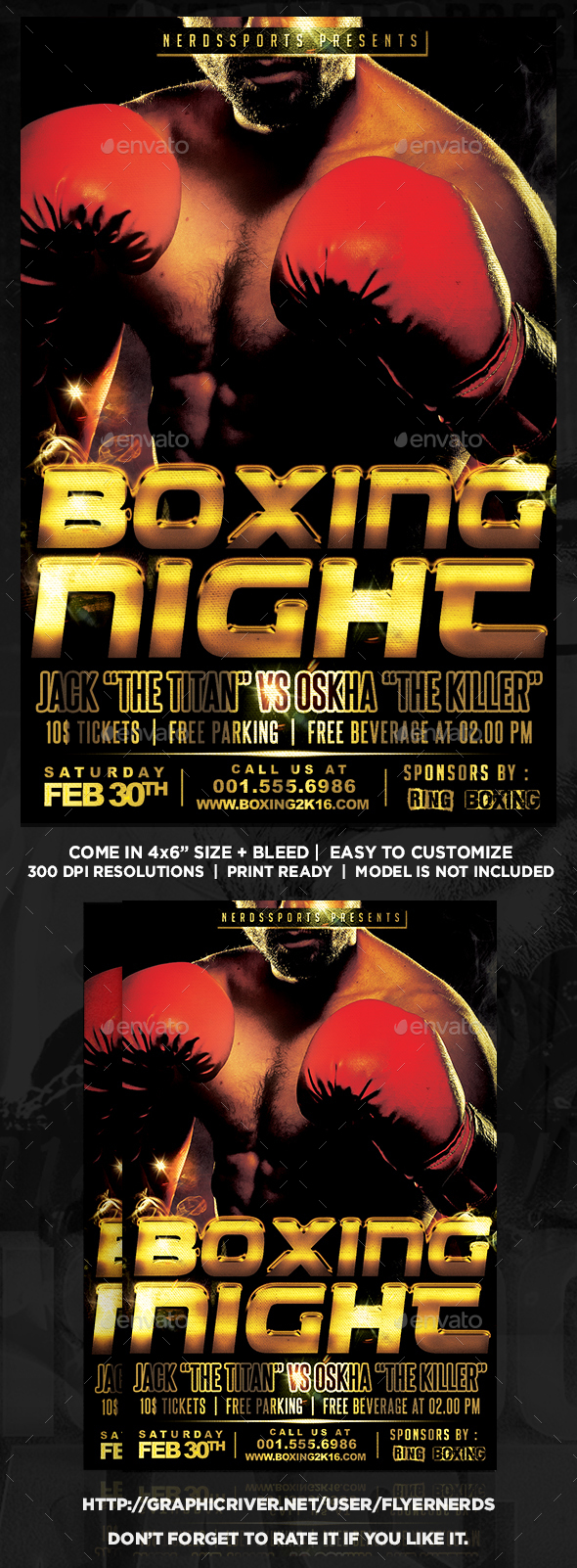 Boxing 2K16 Championships Sports Flyer - Sports Events