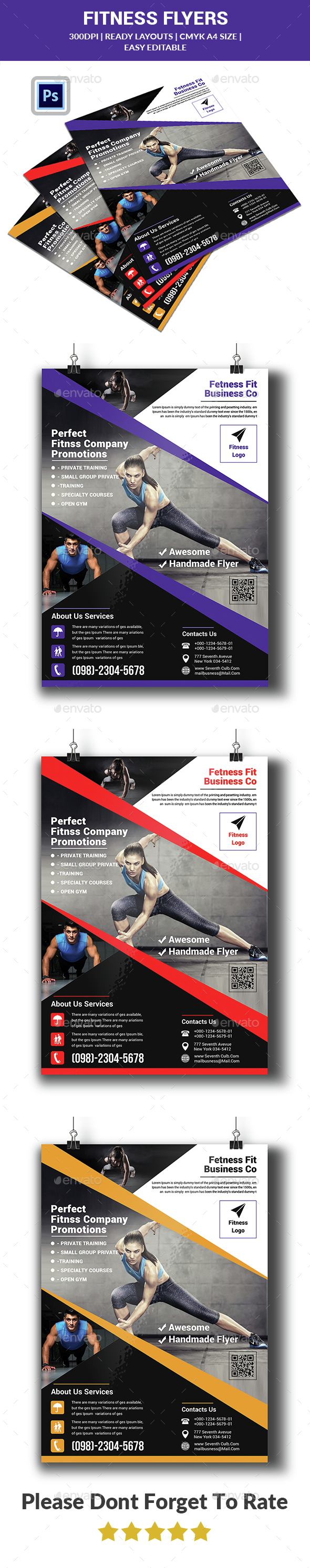 Fitness Flyer Template - Sports Events