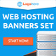 Web Hosting Banners Set