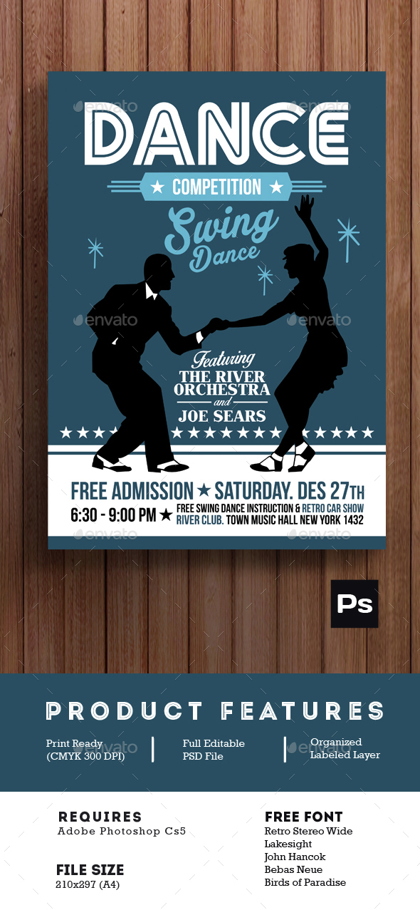 Swing Dance Competition Poster Flyer - Events Flyers