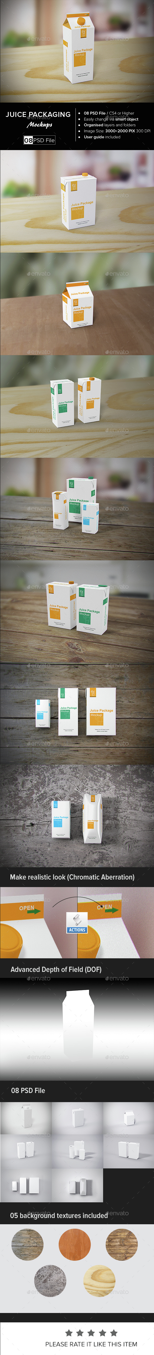 Juice Packaging Mock-up - Food and Drink Packaging