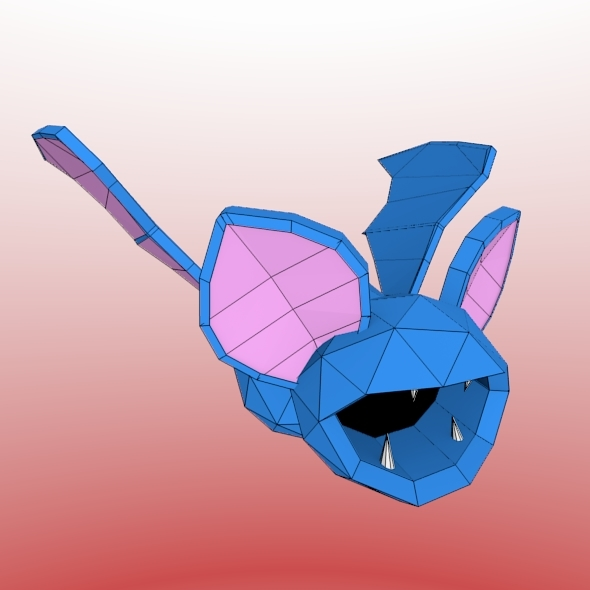 Low poly bat