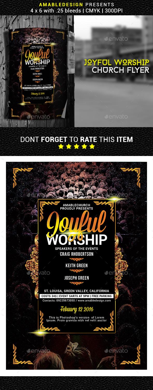 Joyful Worship Church Flyer - Church Flyers