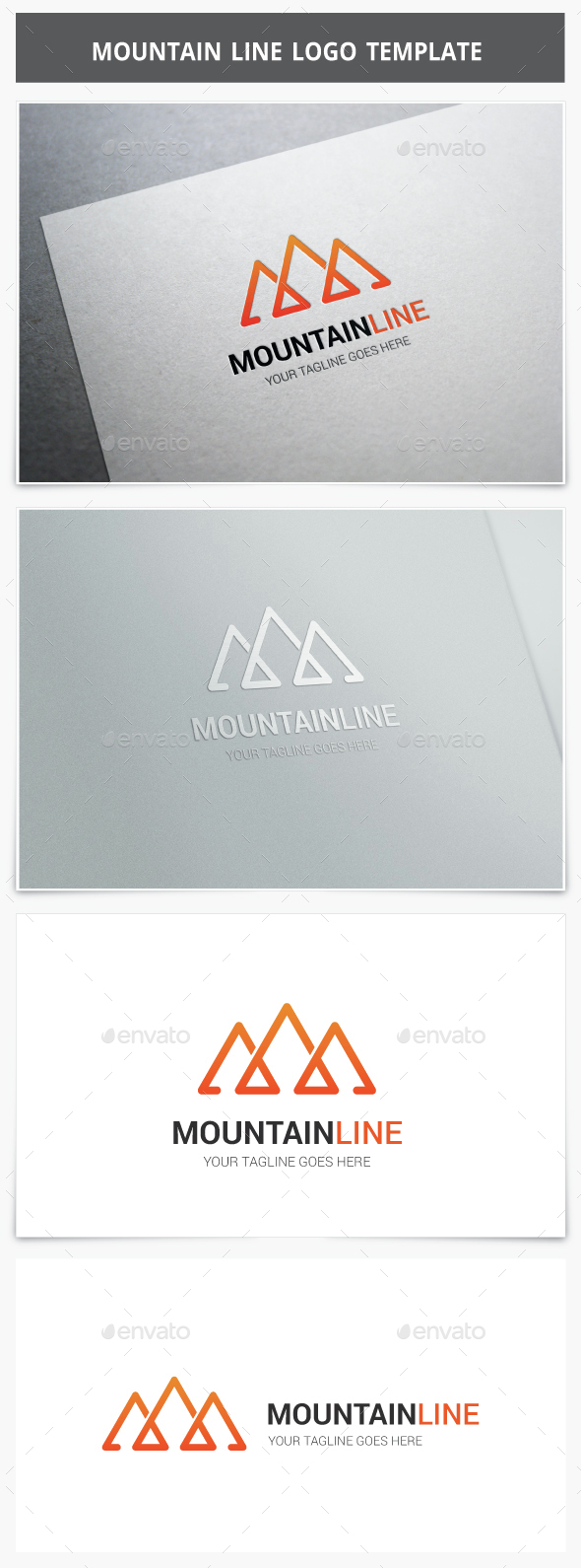 Mountain Line Logo - Vector Abstract
