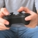 Male Hands Holding Video Game Controller - VideoHive Item for Sale