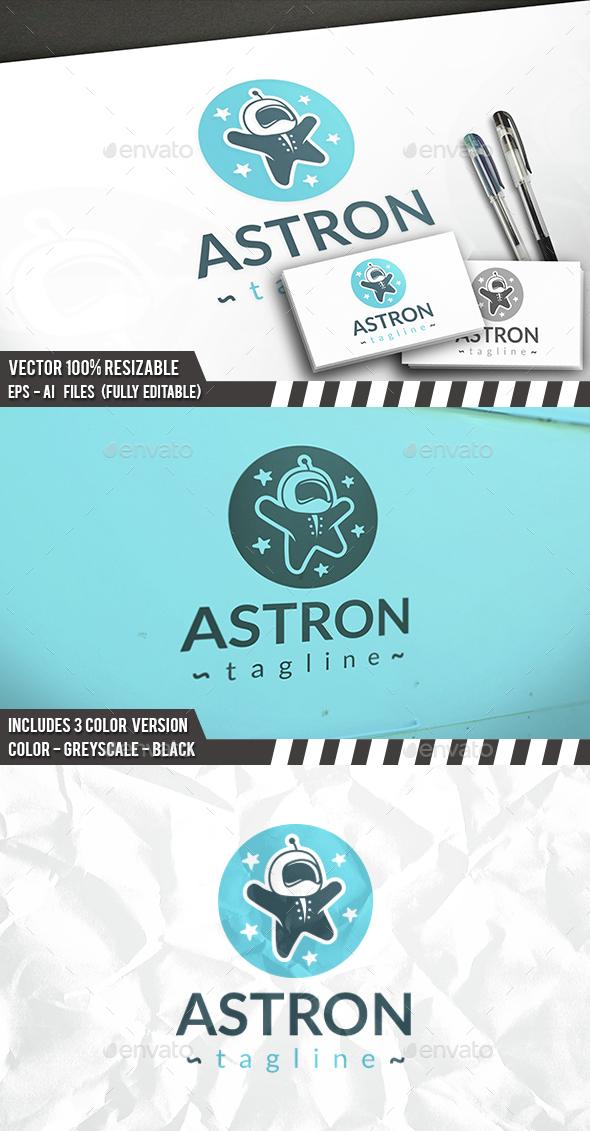 Astronaut Kid Logo - Humans Logo Templates