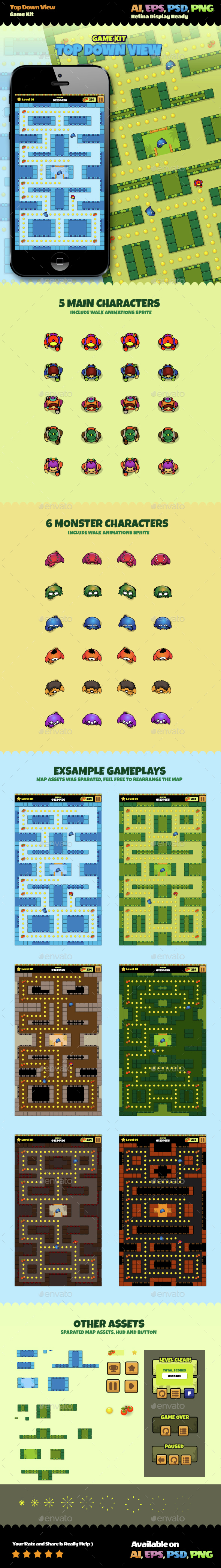 Top Down View Game Kit - Game Kits Game Assets