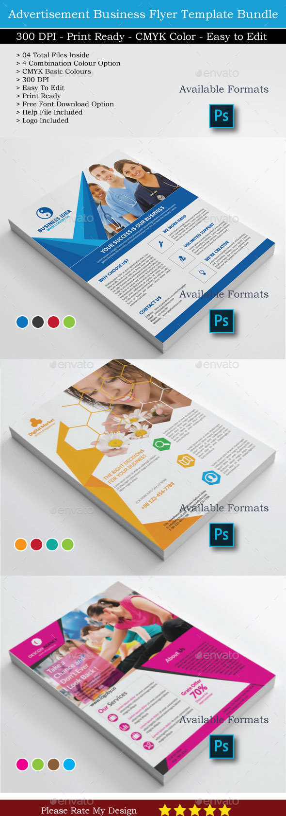 12 Business Flyer Bundle - Corporate Flyers
