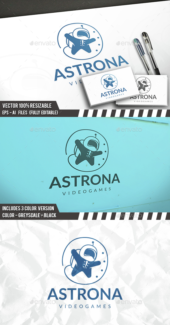 Astronaut Travel Logo - Humans Logo Templates