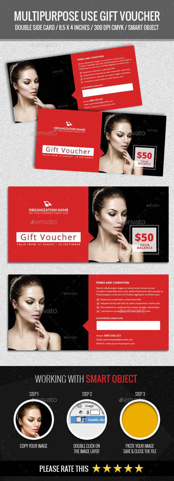 Multipurpose Use Gift Voucher - Loyalty Cards Cards & Invites