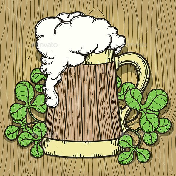 Beer Mug in Cartoon Style - Food Objects