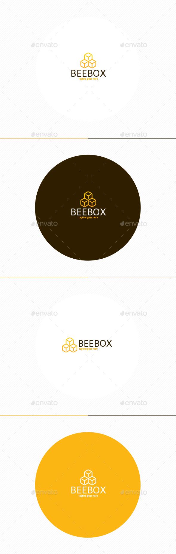 Bee Box Logo - Nature Logo Templates