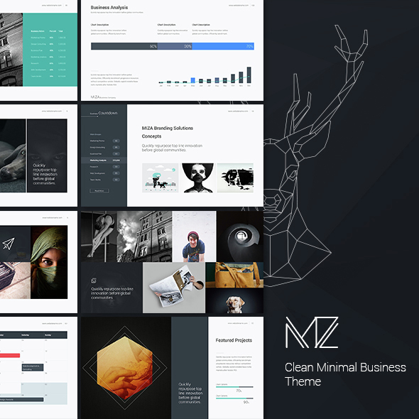 Miza - Business Clean Theme - Business PowerPoint Templates