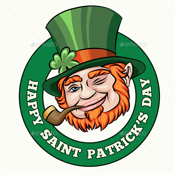 Saint Patrick's Day Badge - Seasons/Holidays Conceptual