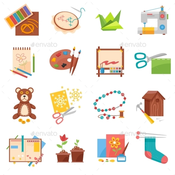 Hobbies Icons Set - Miscellaneous Conceptual