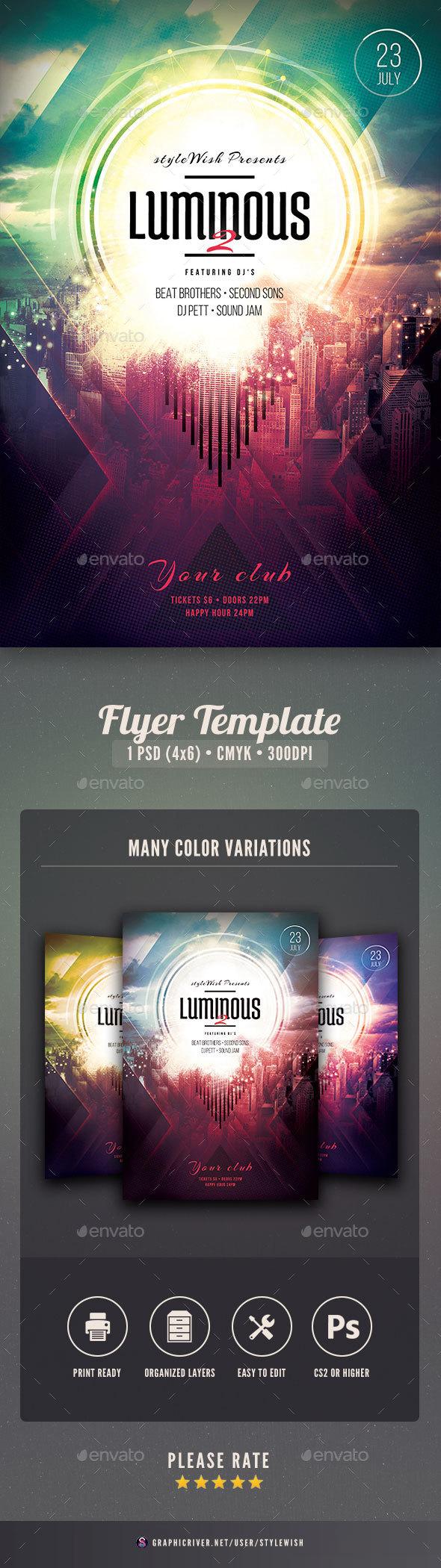 Luminous 2 Flyer - Concerts Events